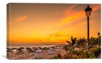 Costa Adeje Golden Sunset, Canvas Print