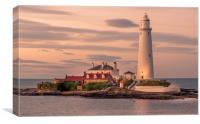 Twilight at St Mary's Lighthouse, Canvas Print