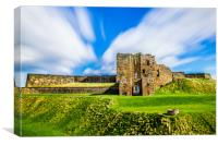 Tynemouth Castle Majestic Ruins, Canvas Print