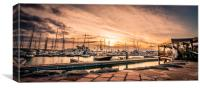 Sunset at Marina Rubicon , Canvas Print