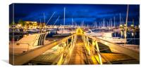 The Pontoon at the Marina Rubicon , Canvas Print