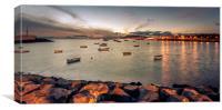 Playa Blanca Twilight view........, Canvas Print