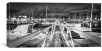 The Pontoon at the Marina Rubicon in Mono, Canvas Print