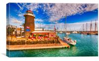 Waterbus arriving at the Marina, Canvas Print