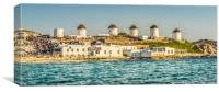 The Windmills of Mykonos, Canvas Print