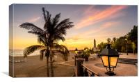 Costa Sunset, Canvas Print