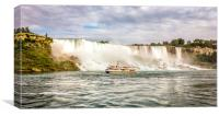 American and Canadian Niagra Falls, Canvas Print