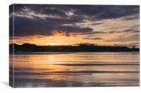 Bamburgh Beach Sundown, Canvas Print