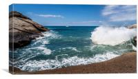 Beautiful bay view over the sea in Costa Adeje , Canvas Print