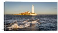 January day at the Lighthouse, Canvas Print