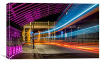 Light Trails High Level Bridge, Canvas Print