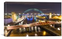 Night at the Quayside, Canvas Print