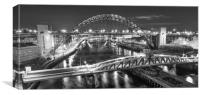 Night at the Quayside in Mono, Canvas Print