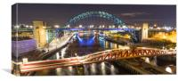 River Tyne Bridges, Canvas Print