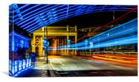 High Level Light Trails, Canvas Print