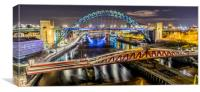 Bridge over the River Tyne, Canvas Print