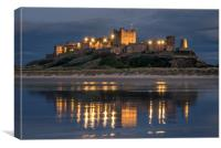 Mighty Castle at Night, Canvas Print