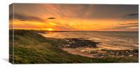 Sunset at Bamburgh, Canvas Print