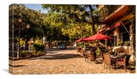 Cafe's in Valldemossa, Canvas Print