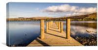 Jetty View to the Helvellyn mountains, Canvas Print