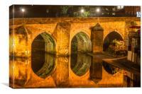 Photo of Durham Elvet Bridge, Canvas Print