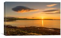 Photos of Northumberland - Budle Bay Sunset, Canvas Print