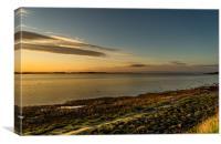 The Bay at Sundown, Canvas Print