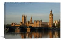 Westminster Morning, Canvas Print