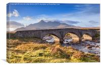 Old Bridge, Sligachan, Skye, Canvas Print