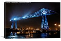 Tees Transporter Bridge in Middlesbrough, Canvas Print