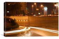 Speed Traffic in Cairo, Canvas Print