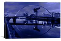 Glasgow Arc and Finnieston Crane , Canvas Print