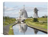 The Kelpies sculptures , Canvas Print