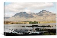 Lochan na h-Achlaise and the Black Mount, Canvas Print