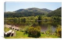Loch Lubnaig  in the summertime ,  Scotland, Canvas Print