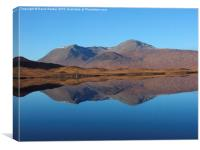Black Mount , the Highlands , Scotland, Canvas Print