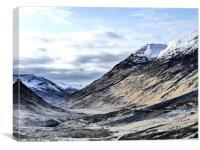 Glencoe HDR  , the Highlands , Scotland, Canvas Print