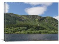 Loch Lubnaig , near Callander , Stirlingshire , Sc, Canvas Print