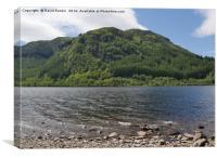 Loch Lubnaig , near Callander , Stirlingshire , Sc, Canvas Print
