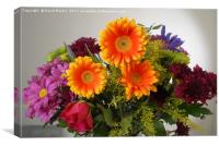orange and yellow gerbera, Canvas Print
