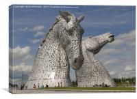 the Kelpies, Helix Park, Falkirk , Scotland, Canvas Print