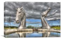 The Kelpies in the Helix Park in Falkirk,Scotland, Canvas Print