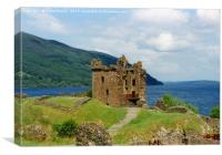Grant Tower, Urquhart Castle on the shore of Loch , Canvas Print