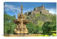 Edinburgh Castle , Scotland, Canvas Print