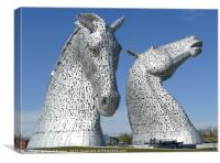 The Kelpies sculptures in Falkirk , Canvas Print