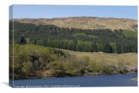 Loch Lubhair , the Highlands , Scotland, Canvas Print