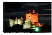Eilean Donan Castle at night, Canvas Print