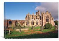 Melrose Abbey , Scotland, Canvas Print