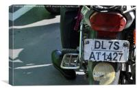 Indian Motorbike Plate, Canvas Print