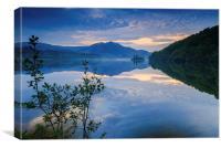 Loch Achray, Canvas Print